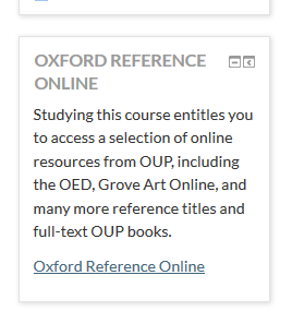 Oxford Rreference Online block